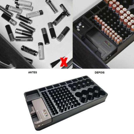 Organizador de bateria com testador