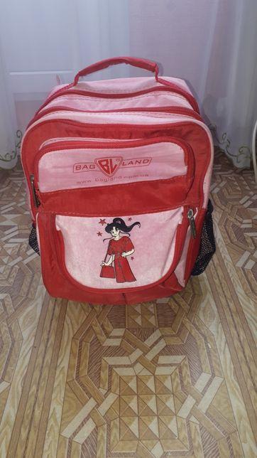 Рюкзак портфель детский школьный розовый для девочки