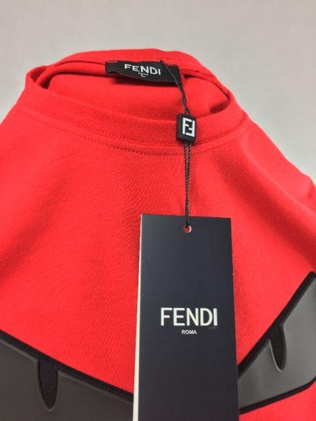 Fendi Koszulka T-shirt Czerwona S/M/L Prezent dla niego 100%