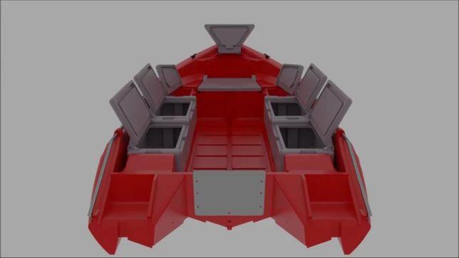 łódź KONTRA 450 z polietylenu