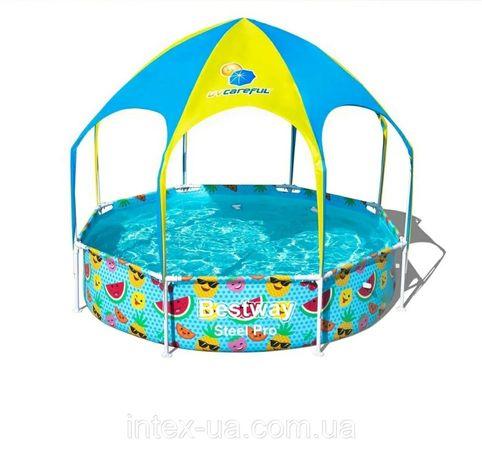 Продам детский бассейн с крышей Bestway