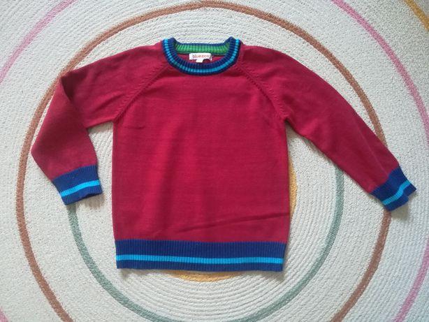 Czerwony sweterek chłopięcy BlueZoo roz 98