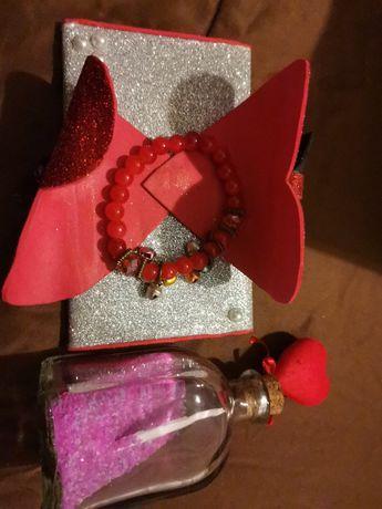 Dou - porta guardanapos, pulseira e boião dia dos namorados