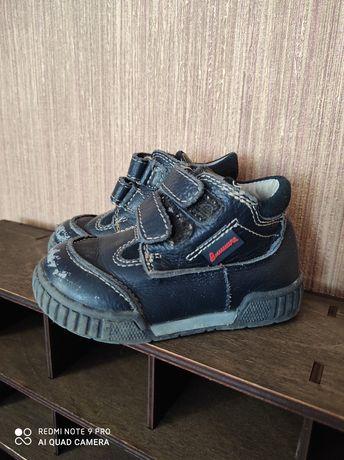 Ботинки кожаные, ботиночки осенние 21 размер, 14 см