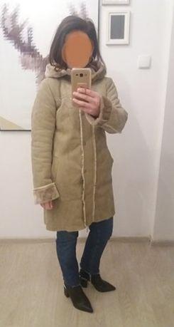 kożuch, kożuszek, płaszcz z kapturem 36 s