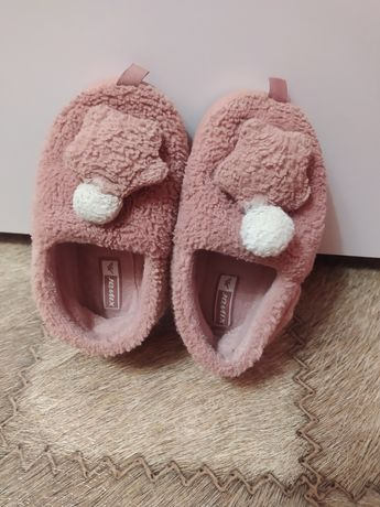 Детские тапочки для садика на девочку розовые 2-3 годика 28 29 размер