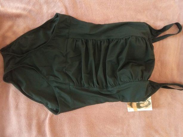 Czarny kostium kąpielowy w rozmiarze 38
