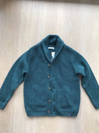 Okaidi zara NOWY sweter rozpinany z kołnierzem 104