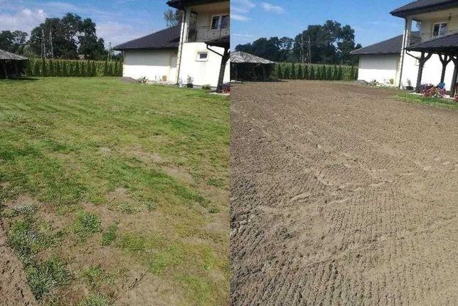 Usługi ogrodnicze glebogryzarka separacyjna zakładanie trawników