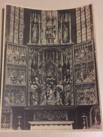 UNIKATOWE!!!Oryginalne stare zdjęcia Ołtarza Mariackiego szt.5/ 17x23