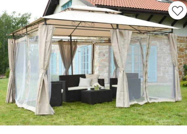 Pawilon altana namiot ogrodowy 3x4 kremowy