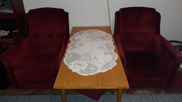 PILNE! Dwa fotele bordowe, zamszowe, tylko odbiór osobisty!