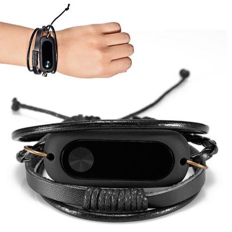 Bracelete couro Mi Band 2 NOVA
