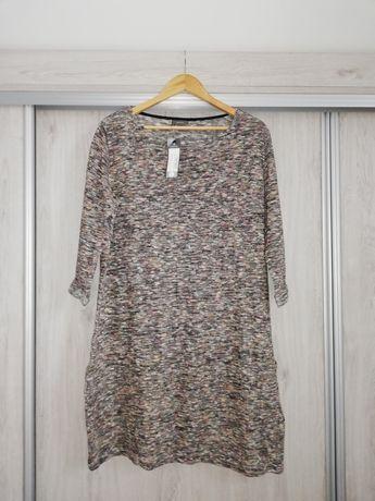 NOWA sukienka dzianina melanż C&a rozmiar L