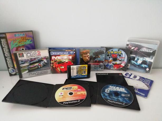 Lote de 10 jogos MegaDrive, PS, Sega Saturn, PS 2, Dreamcast e PS3