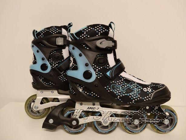 Rolki Hy Skate rozmiar 40 wkładka 26 cm + torba + ochraniacze