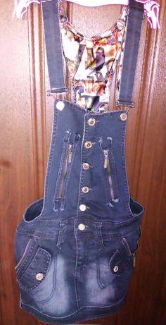 Сарафан джинсовый, почти новый