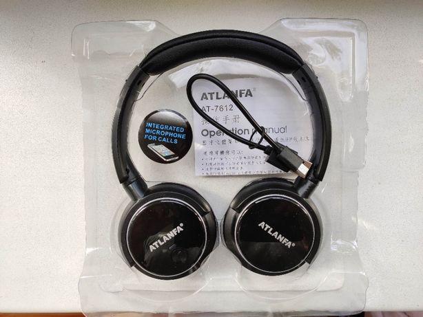 Bluetooth наушники ATLANFA AT-7612. Беспроводные. НОВЫЕ