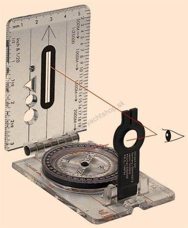 Kompas składany przeźroczysty