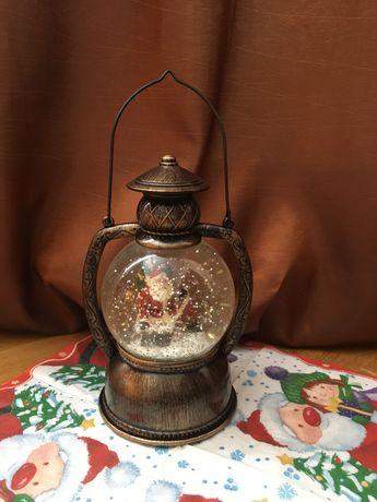 Новорічна скляна куля, подарунок, новий рік, новорічний ліхтар