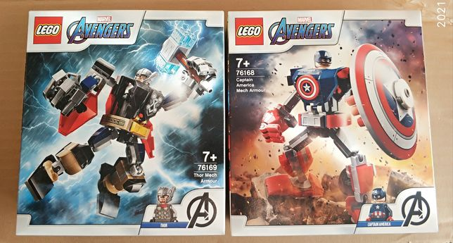 Lego Marvel Avengers 76169 Opancerz Mech Thora+ 76168 Kapitana Ameryki