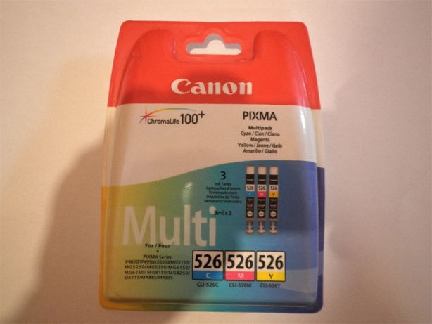 Картриджи принтера МФУ Canon CLI-526C, CLI-526M, CLI-526Y