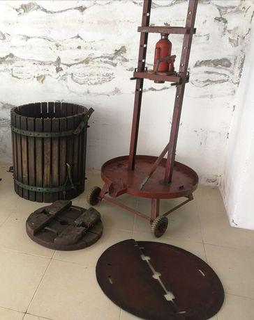 Prensa hidráulica para vinho