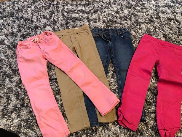 Spodnie dla dziewczynki r.116 cztery pary