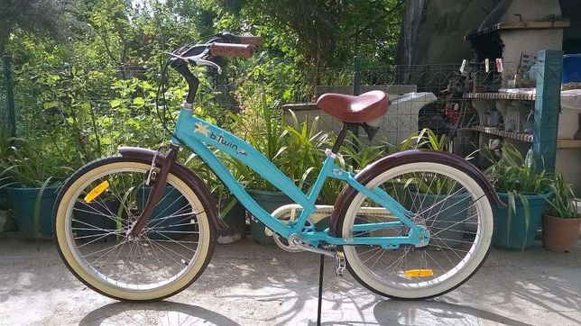 Bicicleta btwin cruiser beach