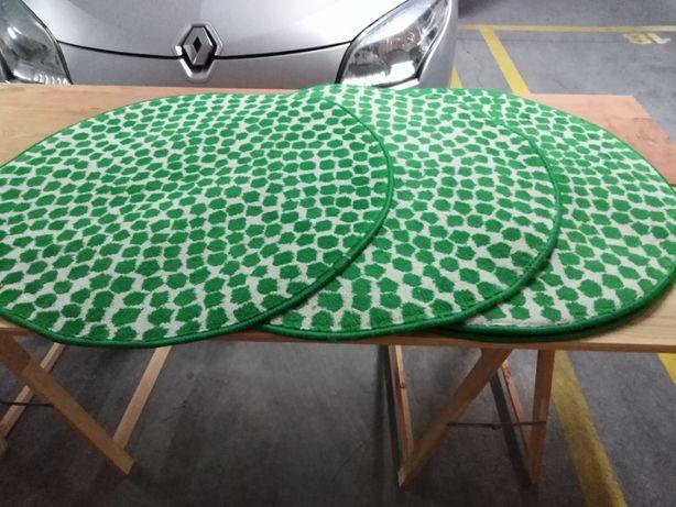 4 Tapetes cor verde e branco do IKEA
