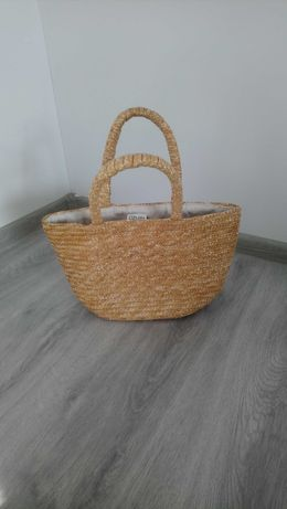 Koszyk plażowy, mała torba pleciona KENZO