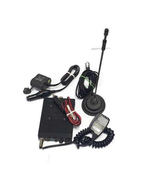CB radio CRT SS77-114 + antena + dwójnik pod zapalniczkę