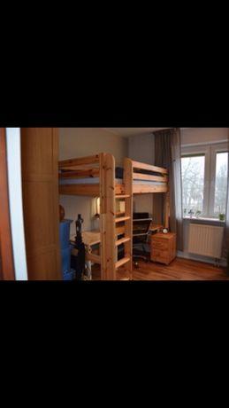 Łóżko piętrowe Flexa lita sosna 90x200 + materac - POLECAM