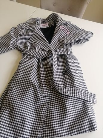 Zestaw Wójcik 122 płaszczyk i sukienka