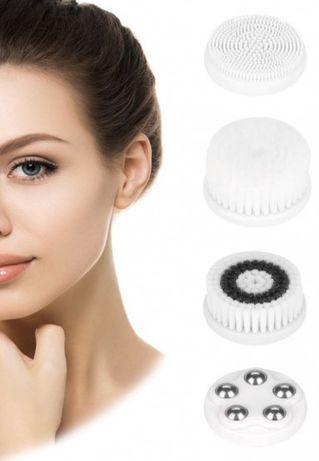 Щетка-массажер для очищения лица Facial SPA Kit Brush 4 в 1 White