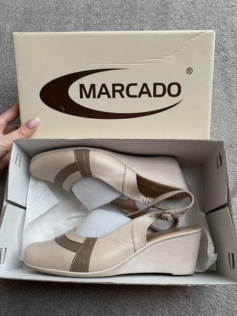 Skórzane buty Marcado pudrowy róż rozmiar 37