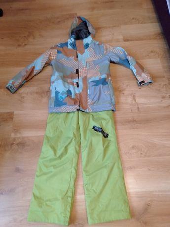 Burton komplet kurtka spodnie 136 147 cm snowboardowe narciarskie