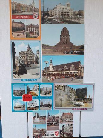 Открытки ГДР, 1988-89 годы, ГДР(Германия), листівки, ретро, винтаж