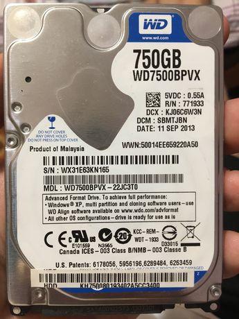 Жесткий диск hdd 750gb