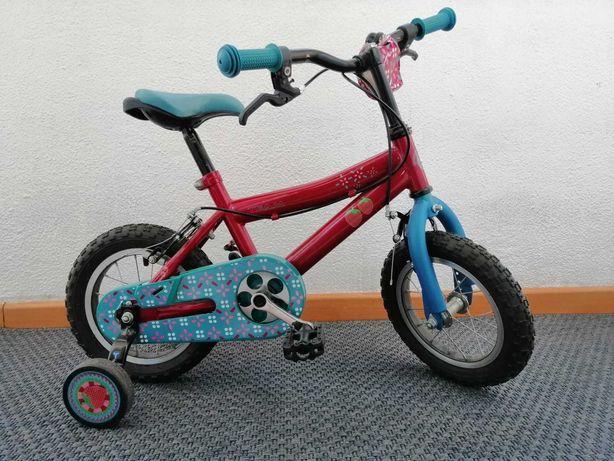 Bicicleta Esmaltina Roda 12 para criança 3-6 anos