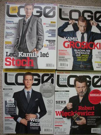LOGO miesięcznik dla mężczyzn, 50 egzemplarzy z lat 2008 do 2019.07