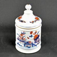 Pote / Potiche / caixa com tampa, Vista Alegre, decoração Imari