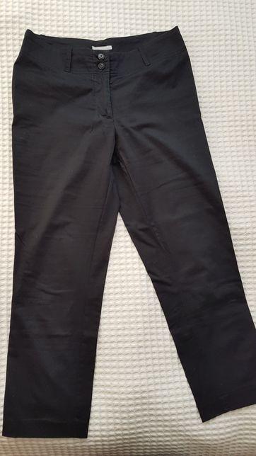 Spodnie materiałowe 7/8 czarne H&M