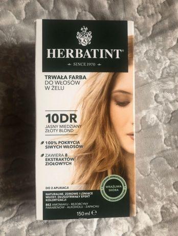 Farba do włosów Herbatint Jasny miedziany złoty blond 10DR