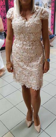 MARINA sukienka weselna, koktajlowa rozmiar 10 (L)