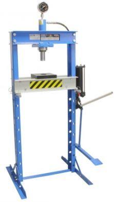Prensa Hidráulica de coluna c/ 20 toneladas c/ Manómetro e pedal Aveiro - imagem 1
