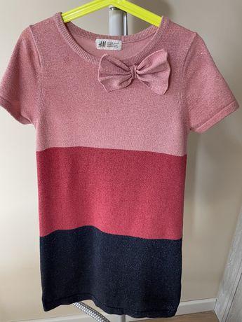Sukienka dzianinowa H&M 134/140
