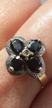 Золотое Кольцо Сапфиры бриллиант