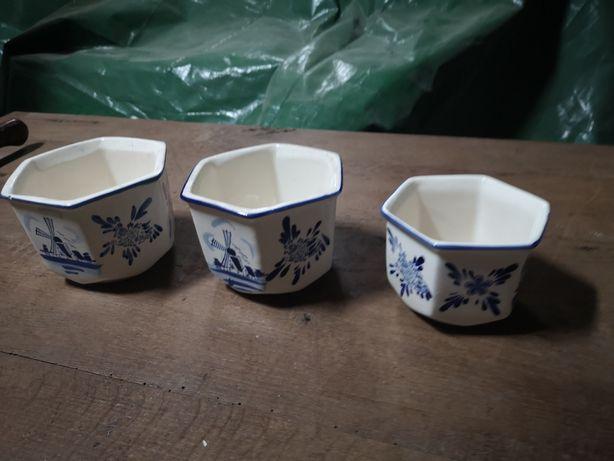 Pojemniki ceramika 3szt.