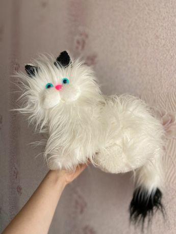 Мягкая игрушка кот белый кошка котик пушистик